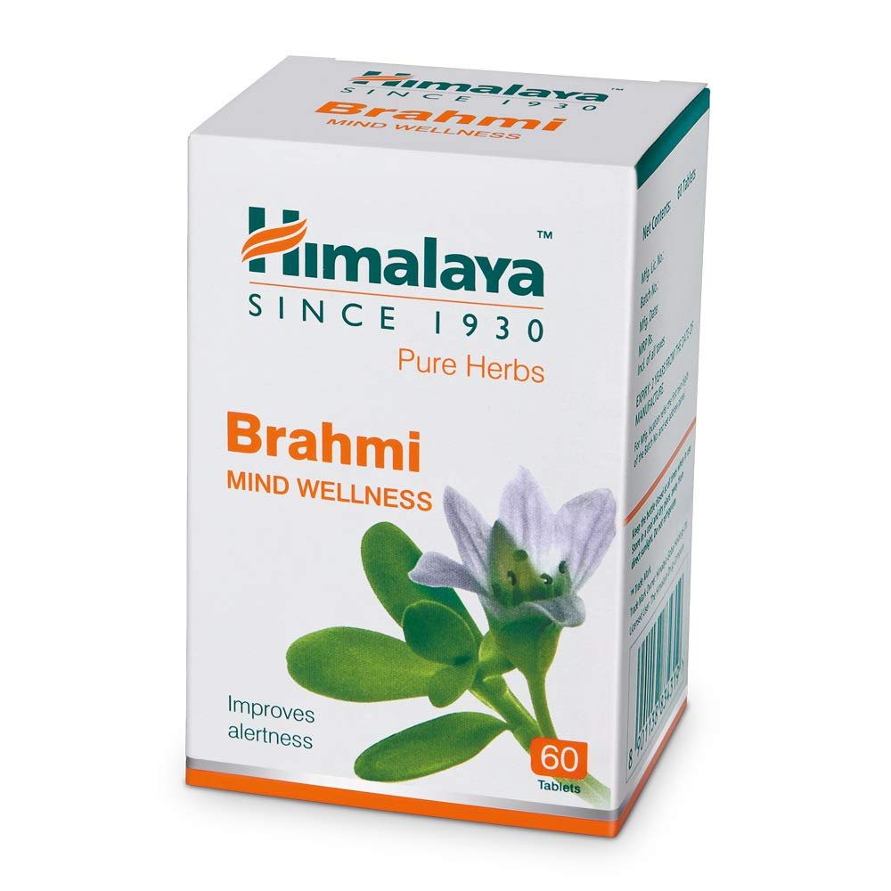 Himalaya Wellness Pure Herbs Brahmi Mind Wellness  Improves alertness  - 60 Tablet