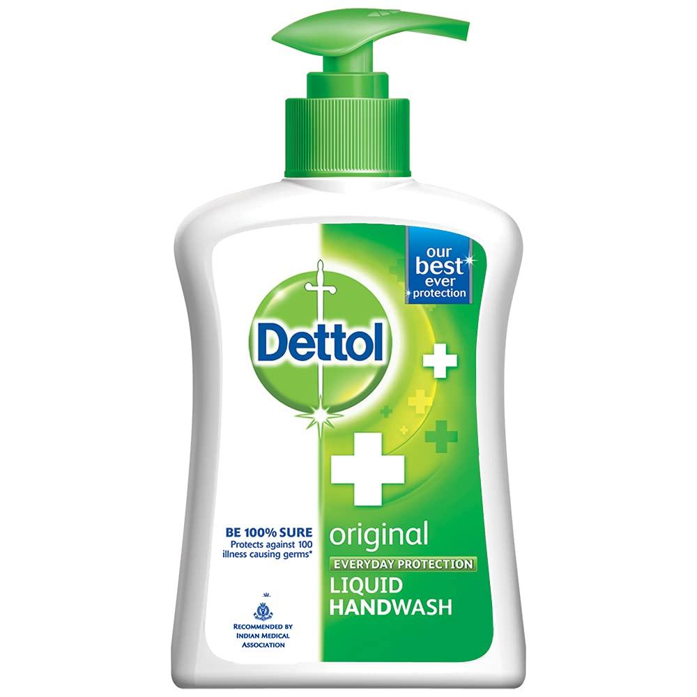 Dettol Original Germ Protection Handwash Liquid Soap Pump, 200ml