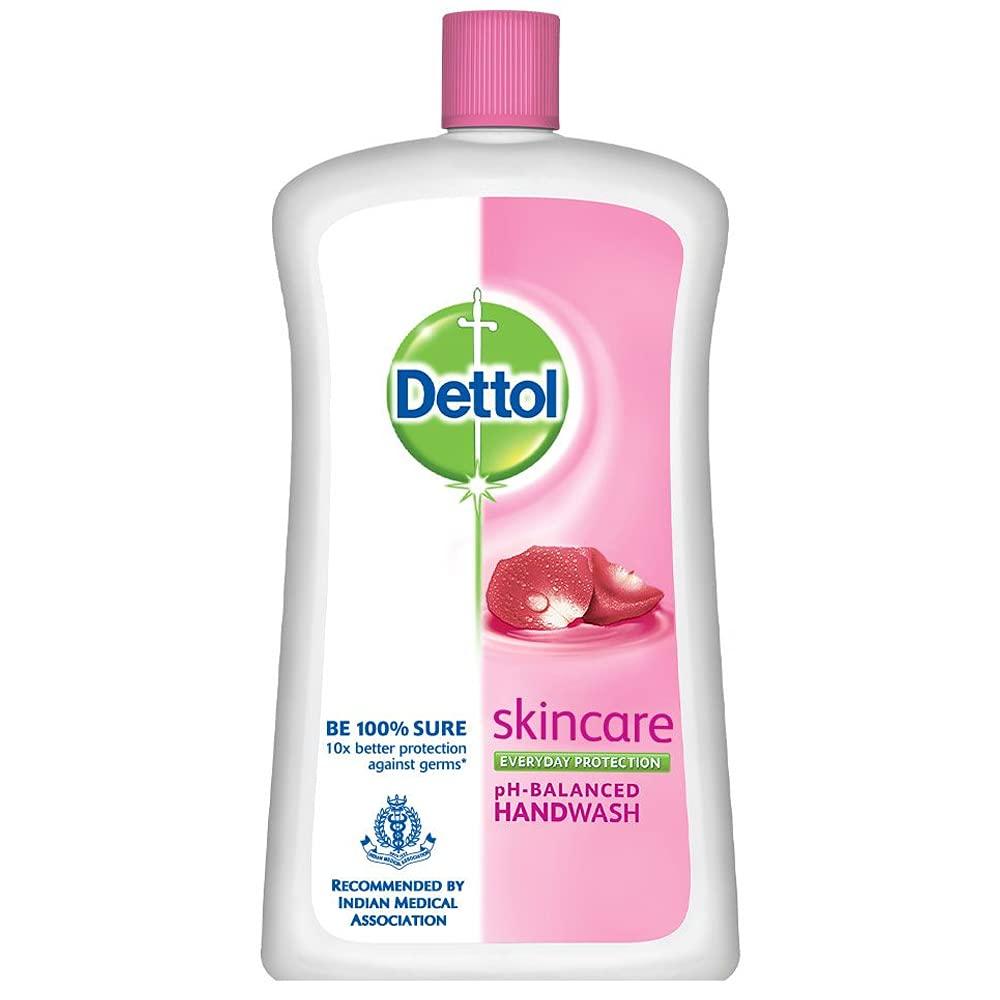 Dettol Skincare Germ Protection Handwash Liquid Soap Refill Jar, 900ml
