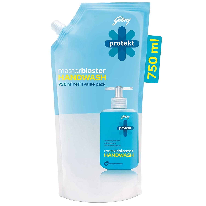 Godrej Protekt Masterblaster Germ Protection Liquid Handwash Refill, 750ml
