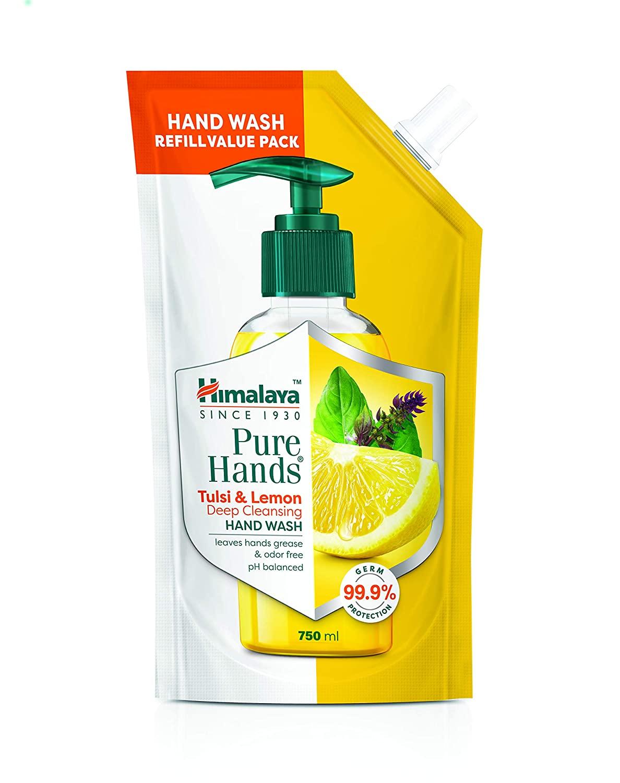 Himalaya Pure Hands | Deep Cleansing Tulsi and Lemon Hand Wash Refill - 750 ml
