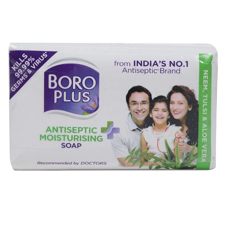 Boroplus Antiseptic Moisturizing Soap, Neem, Tulsi and Aloe Vera, 225gm (Buy 2 get 1)