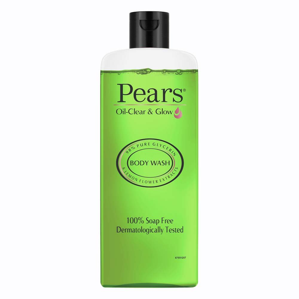 Pears Oil Clear & Glow Shower Gel, With 98% Glycerine and lemon flower extracts , 100% Soap Free, Dermatologically tested 250 ml