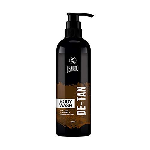 Beardo De-Tan Body Wash for Men, 200ml   De-tan for men   Caffeine Body Wash   With Coffee & Aloe Extracts   For Body & Face   Refreshing Fragrance