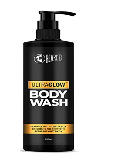 Beardo UltraGlow Body Wash for Men, 200ml | Brightens Skin Tone | Removes Dirt & Dead Cells | Contains Mulberry & Bearberry Extracts | For Face and Body | Refreshes Instantly