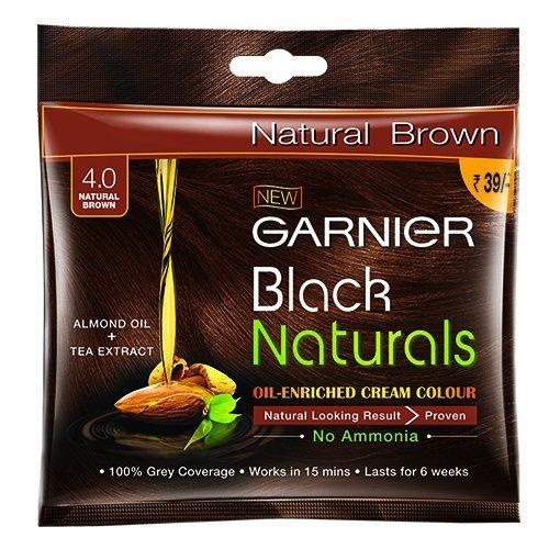 Garnier Hair Colour - Natural Brown, Shade 4.0 Pack 30gm