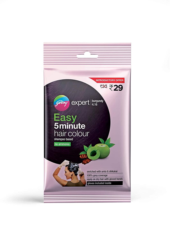 Godrej Expert Easy 5 Minute Hair Colour Sachet – Burgundy, 20ml