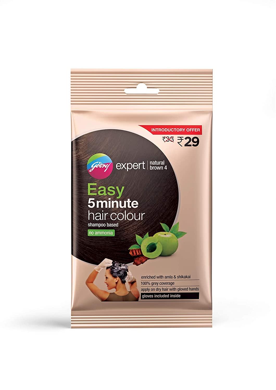 Godrej Expert Easy 5 Minute Hair Colour Sachet – Natural brown, 20ml