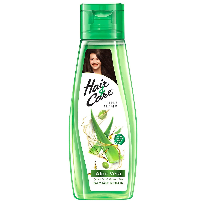 Hair & Care with Aloe Vera, Olive Oil & Green Tea Damage Repair Non-Sticky Hair Oil,200 ml