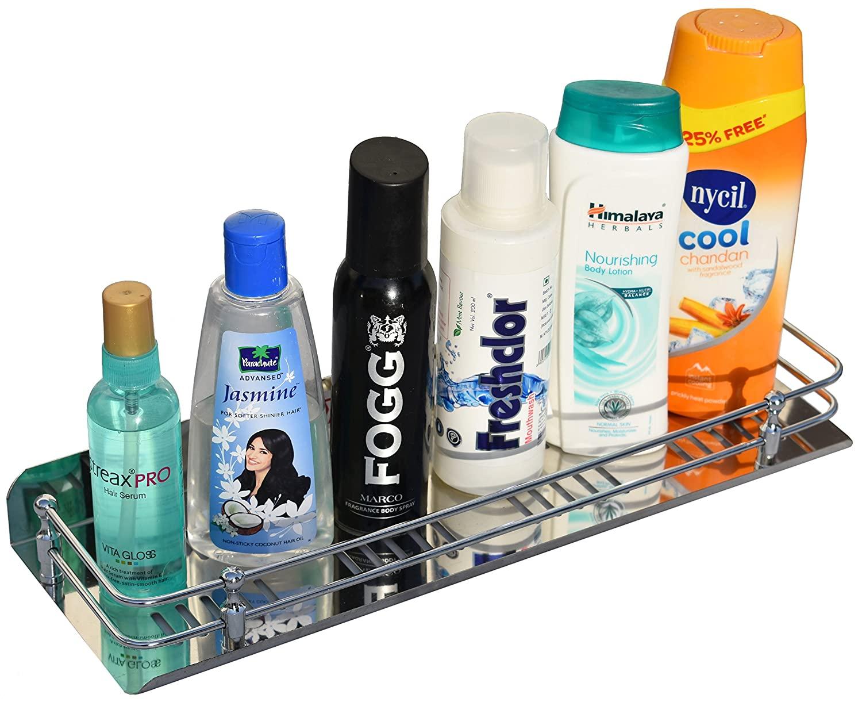 Planet Stainless Steel Multi Purpose Bathroom / Shelf / Rack / Kitchen Shelf / Bathroom Accessories (15 Inches) Wall Mount