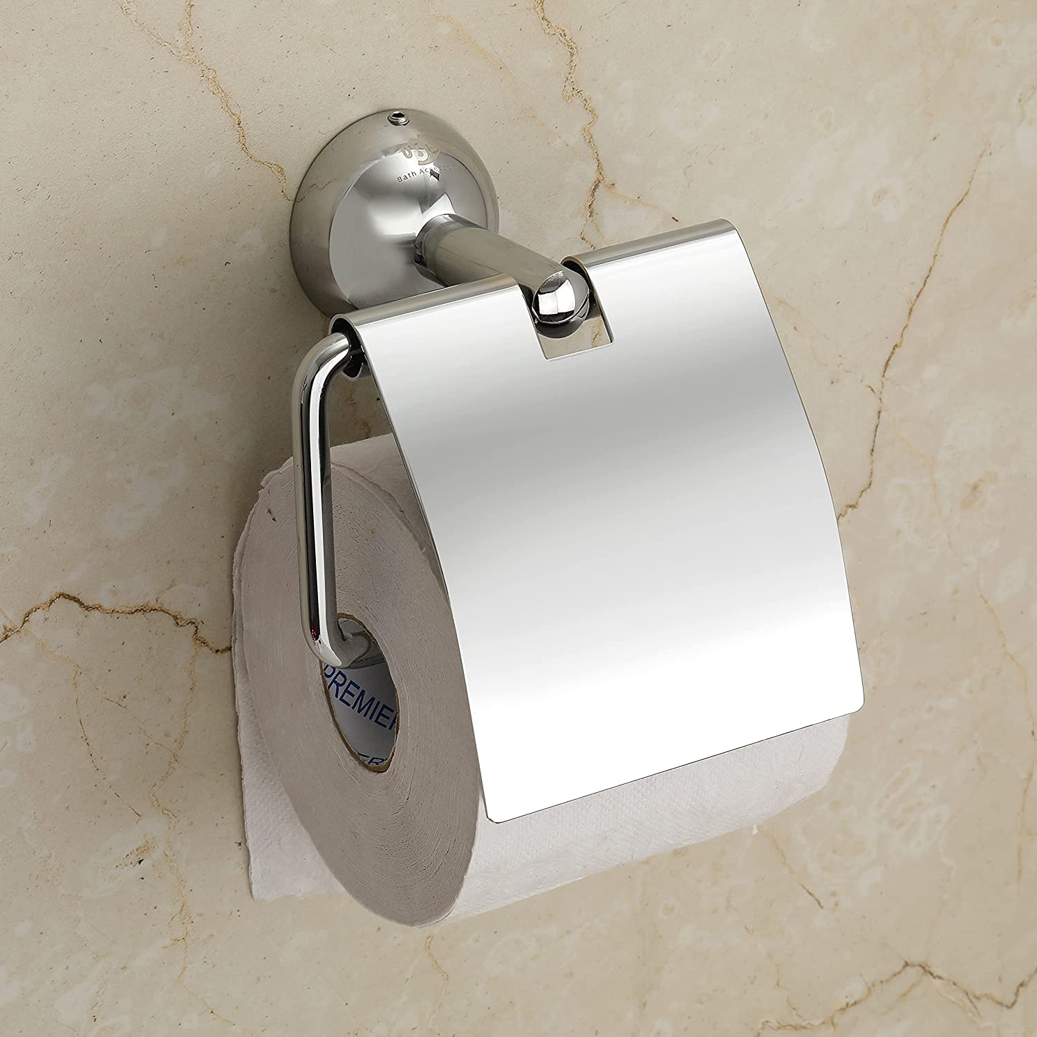 Platinum Stainless Steel 304 Grade Toilet Paper Holder for Bathroom/Toilet Paper Holder Stand- Bathroom Accessories (Chrome Finish)