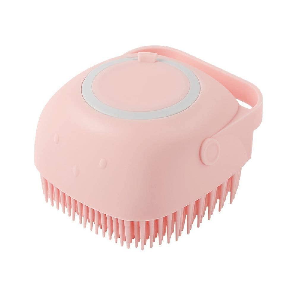 Body Bath Brush, Silicone Soft Cleaning Bath Body Brush with Shampoo Dispenser - Skin Massage Brush Bath Bathroom Accessories multicolor