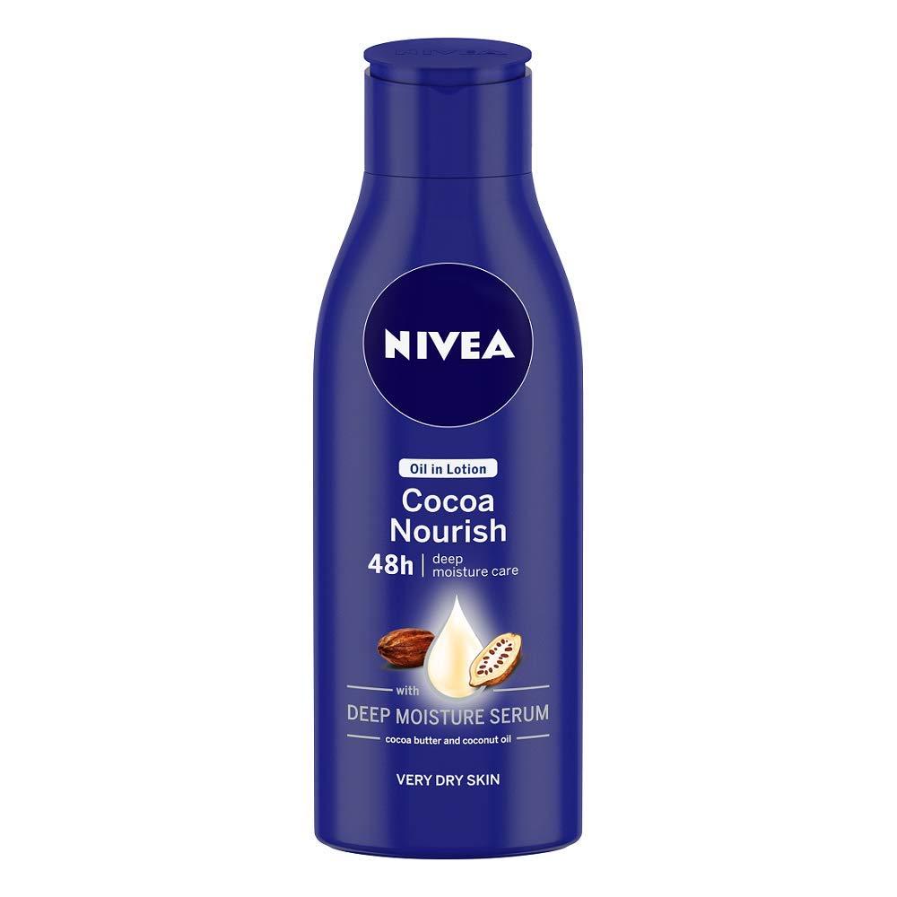 NIVEA Body Lotion for Very Dry Skin, Cocoa Nourish, with Coconut Oil & Cocoa Butter, For Men & Women, 120 ml