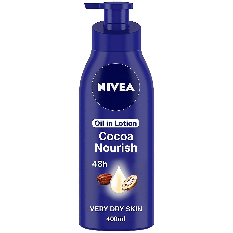 NIVEA Body Lotion for Very Dry Skin, Cocoa Nourish, with Coconut Oil & Cocoa Butter, For Men & Women, 400 ml