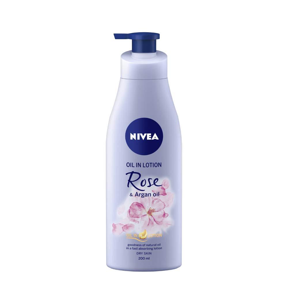 Nivea Rose and Argan Oil Body Lotion For Dry Skin (200ml)