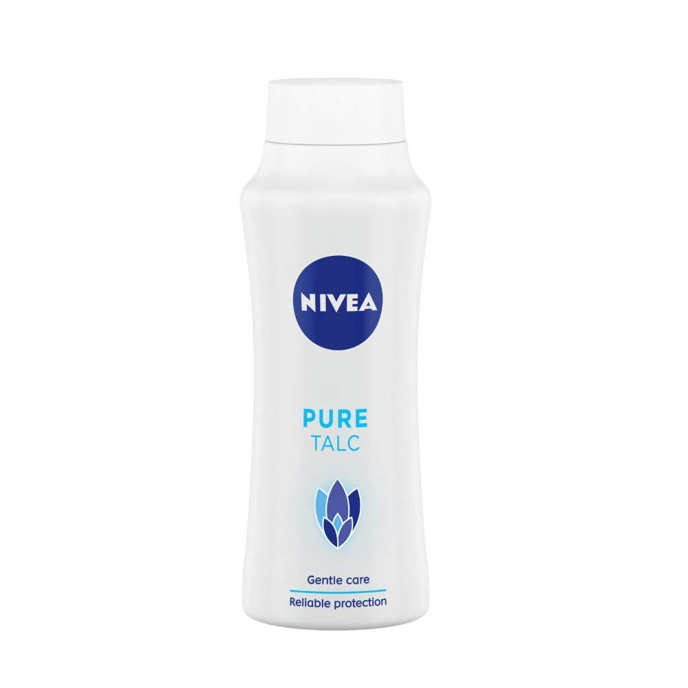 NIVEA Talcum Powder for Men & Women, Pure, For Gentle Fragrance & Reliable Protection Against Body Odour, 400 gm