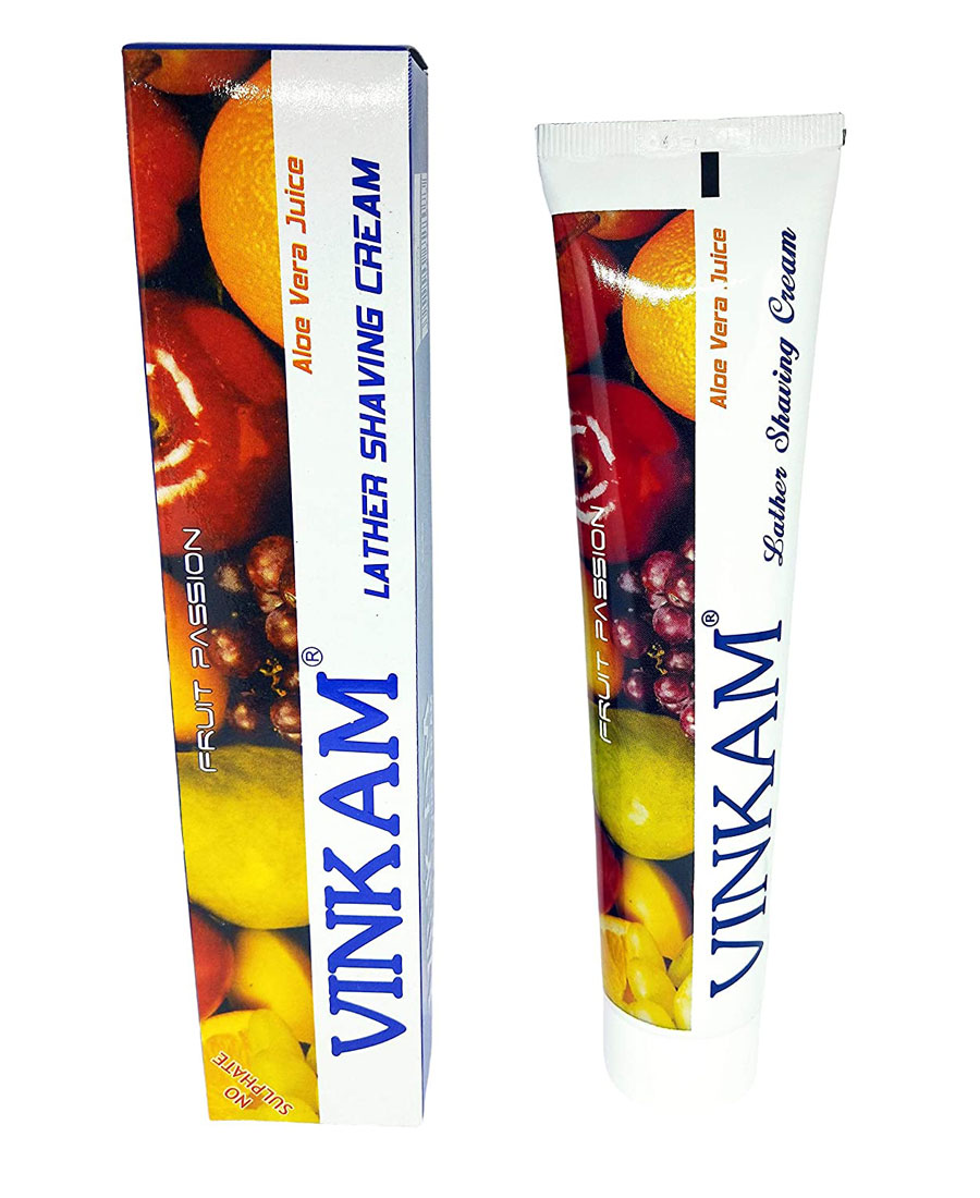 Vinkam Shaving Cream (Fruit Passion - 120gm, 1 piece)