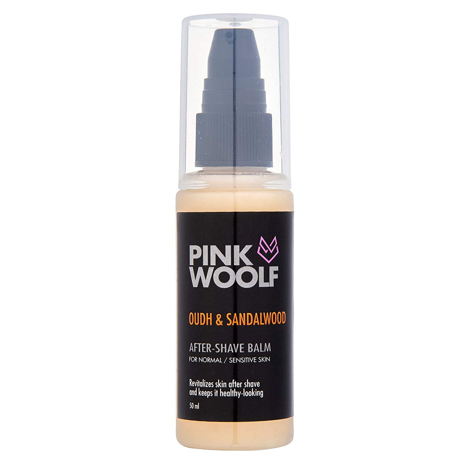 Pink Woolf Luxury After Shave Balm - 50 ml for Normal to Sensitive Skin - Oudh & Sandalwood