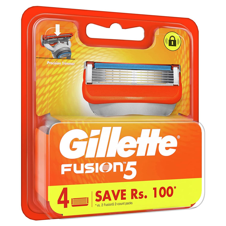 Gillette Fusion Manual Shaving Razor Blades - 4s Pack (Cartridge)