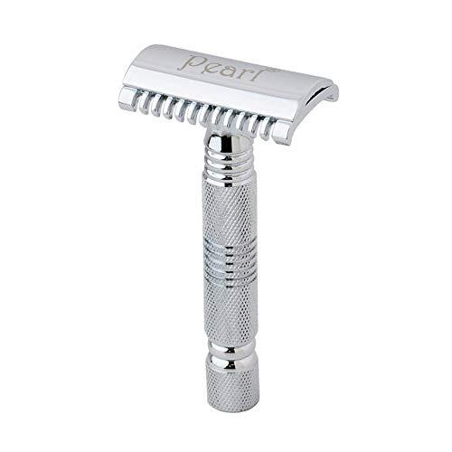 Pearl Shaving Double Edge Safety Razor SSH-01 (Open Comb,Chrome)