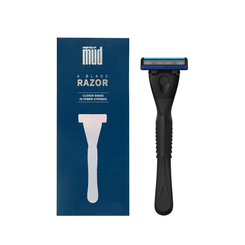 MensXP Mud 6-Blade Razor (For Closer Shave In Fewer Strokes)