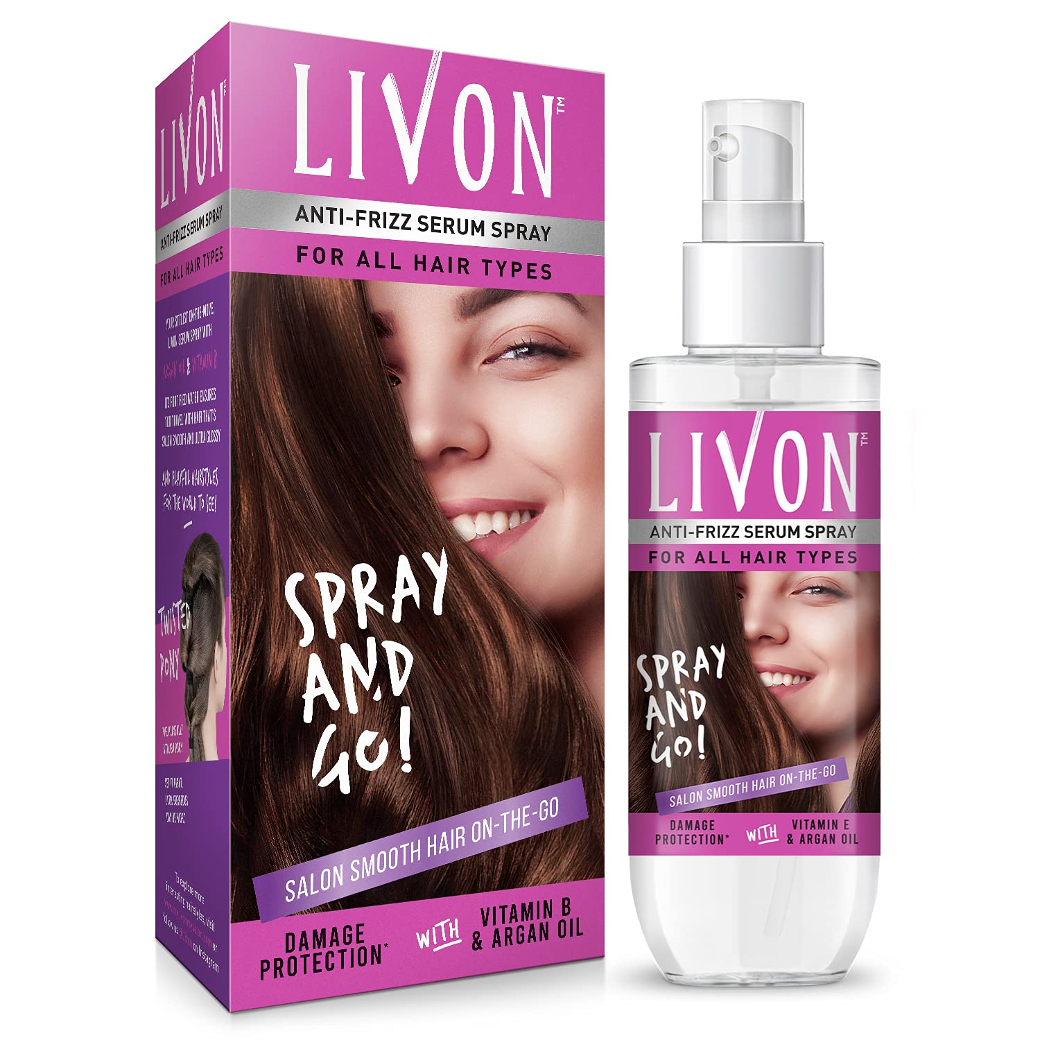 Livon Shake & Spray Serum for Women,For Frizz-free,Smooth & Glossy Hair on-the-go, 100 ml