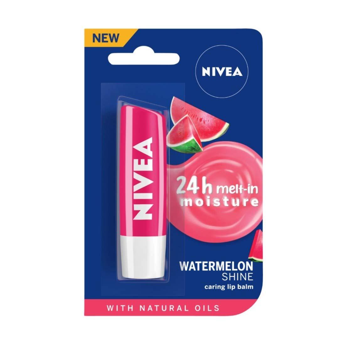 NIVEA Lip Balm, Fruity Watermelon Shine, 4.8gm