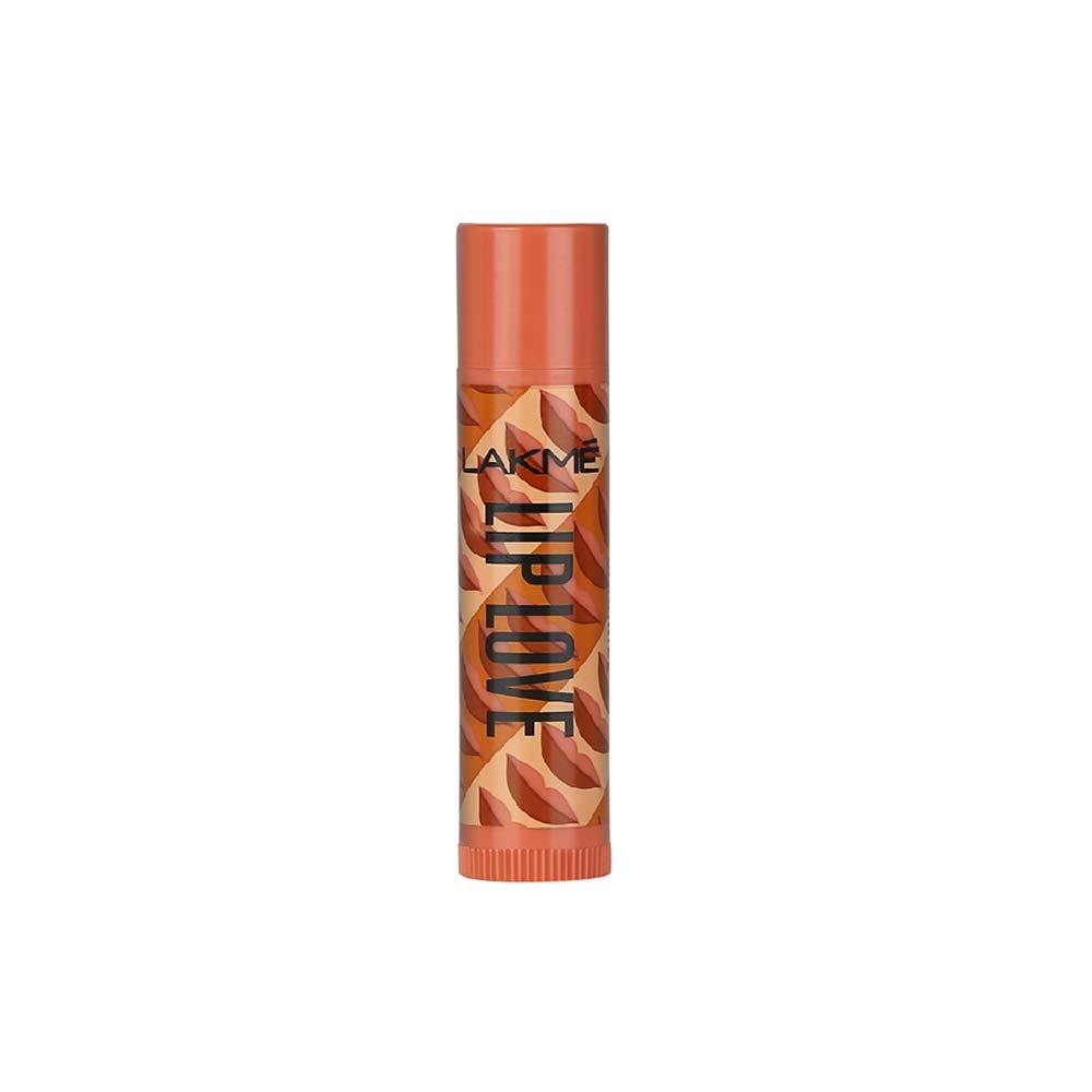 Lakme Lip Love Chapstick, Caramel, Lip Balm With Spf 15, 4.5 gm