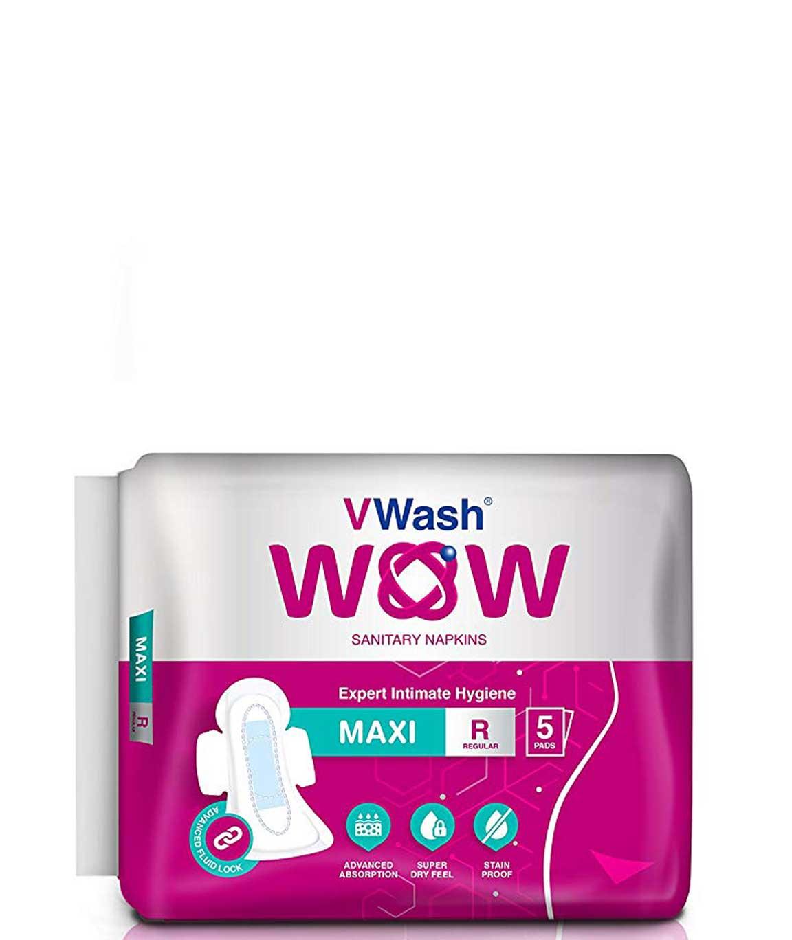VWash Wow Sanitary Napkin Maxi - 5 Count (Regular)