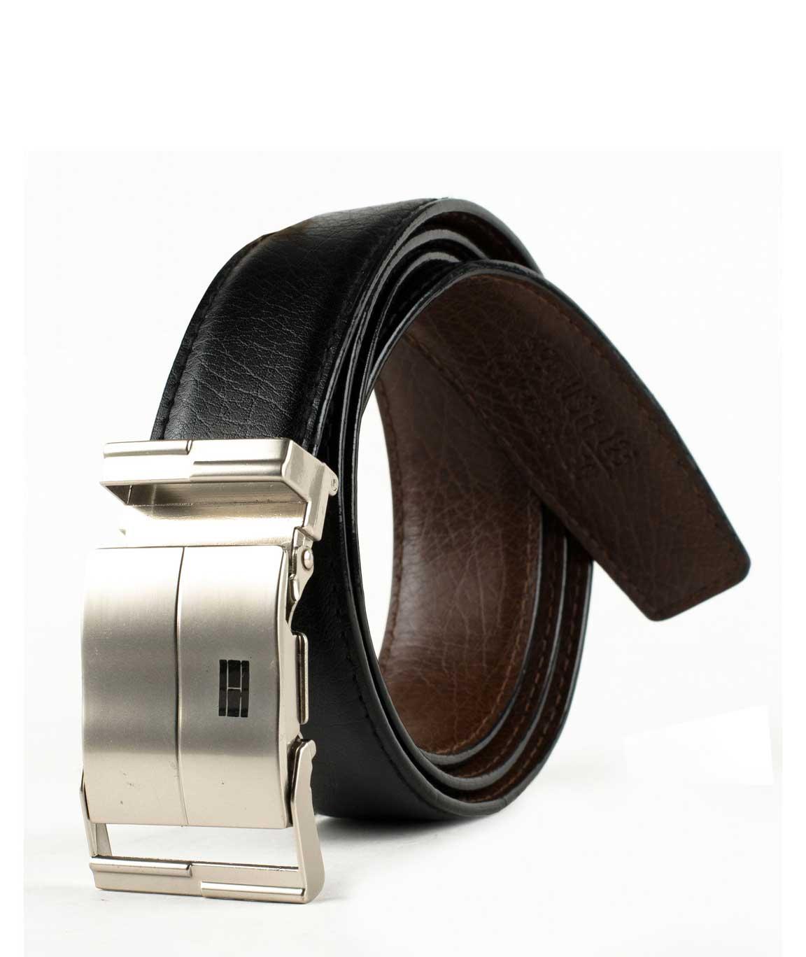 Winsome Deal Black Leather Formal Belt For Men`s
