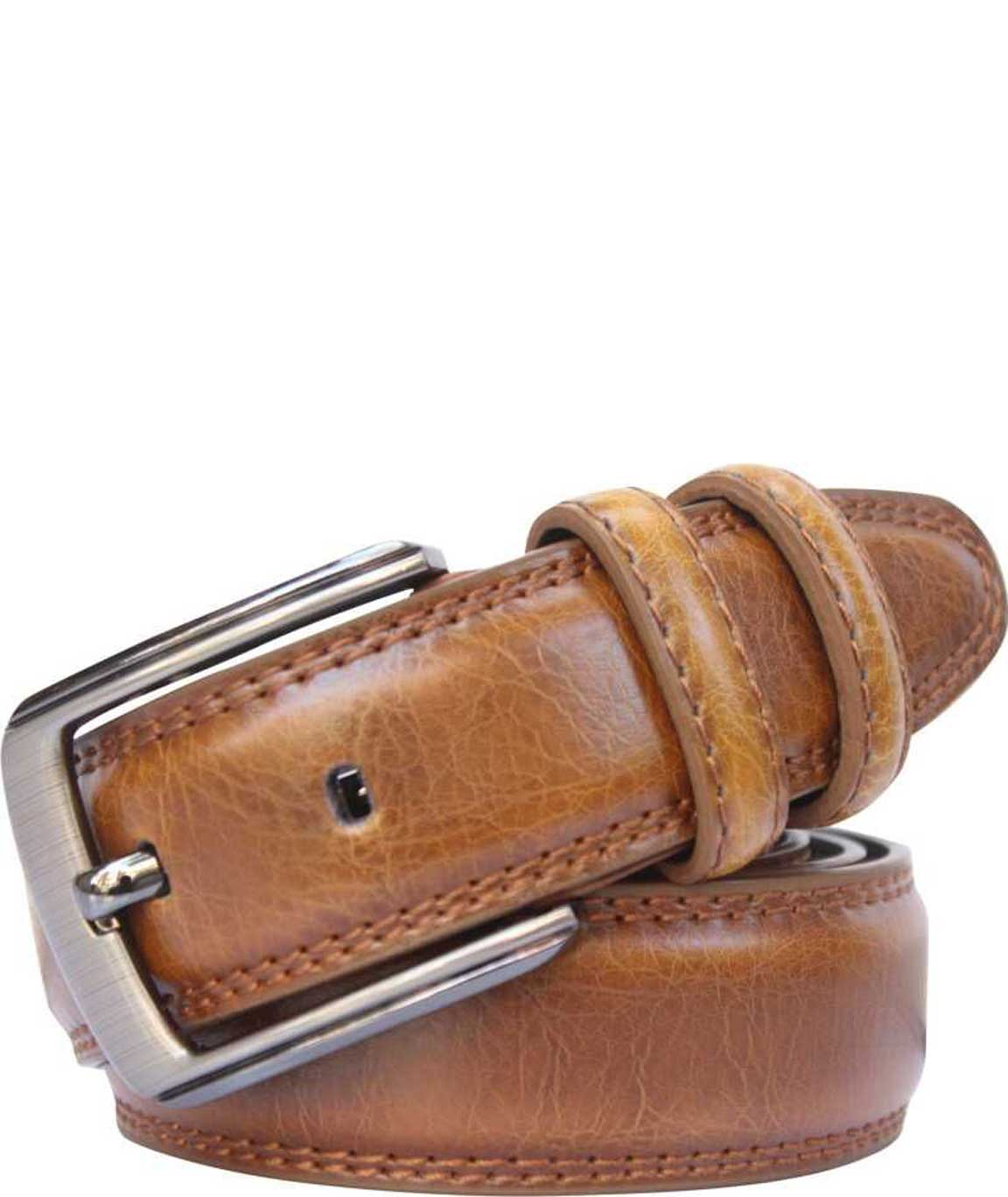 Winsome Deal Tan Leatherette Casual Belt For Men`s