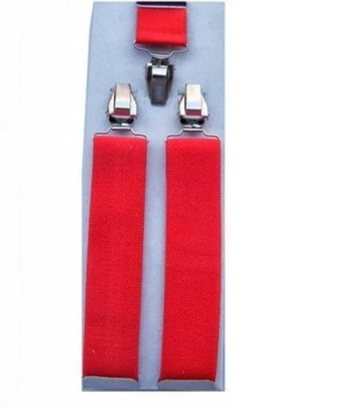Winsome Mens Y back Red Suspender