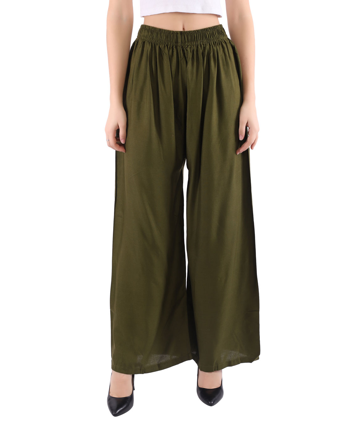 Woman Free Size Plazzo(Green)