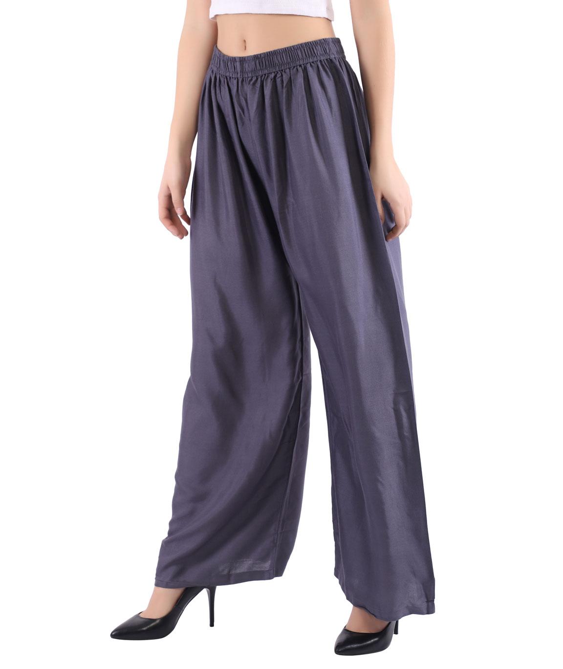 Woman Free Size Plazzo(Grey)