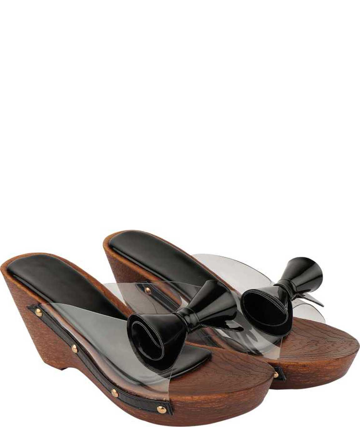 WOMEN BOW WEDGES