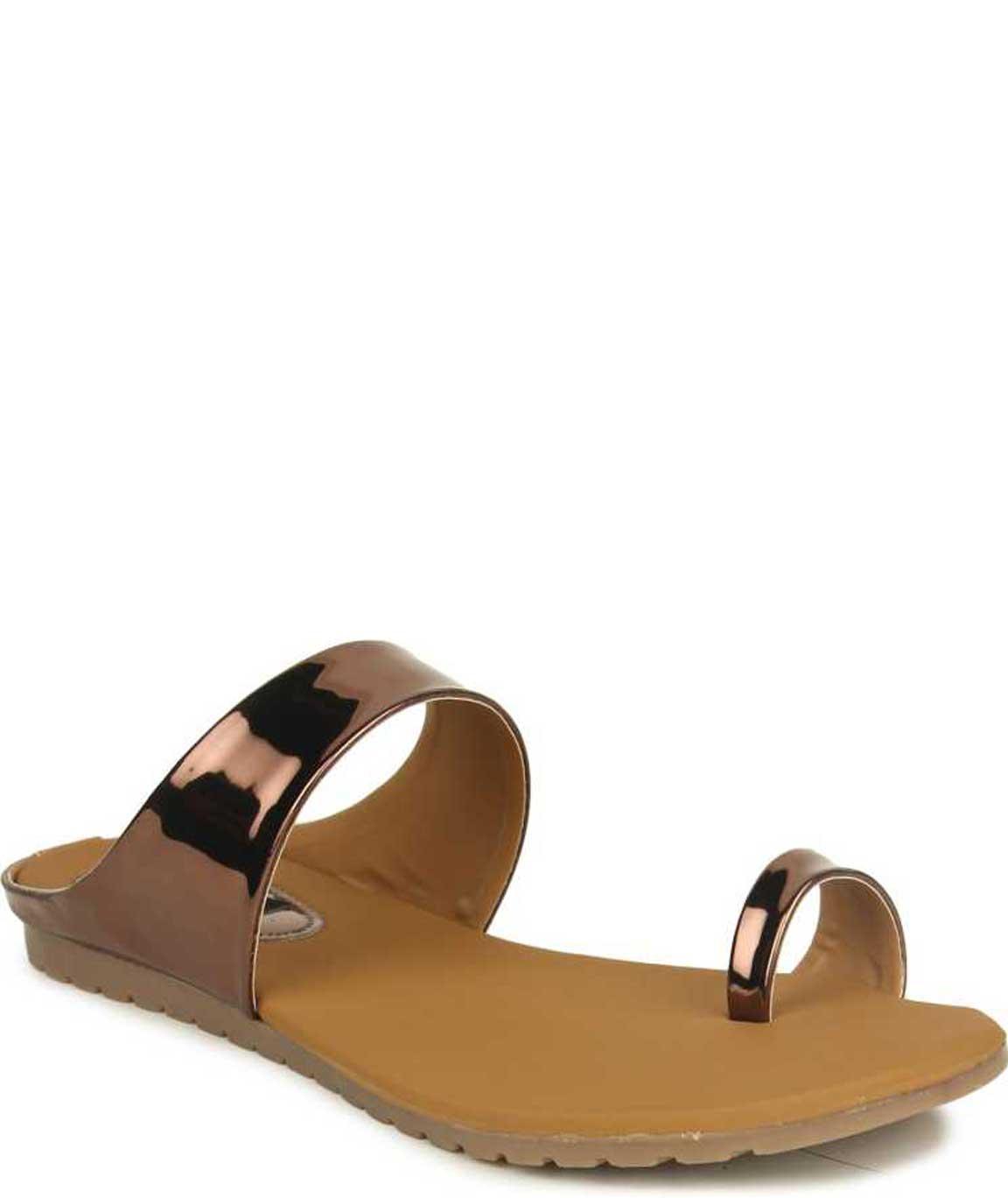 WOMEN COPPER SLIP-ON FLATS