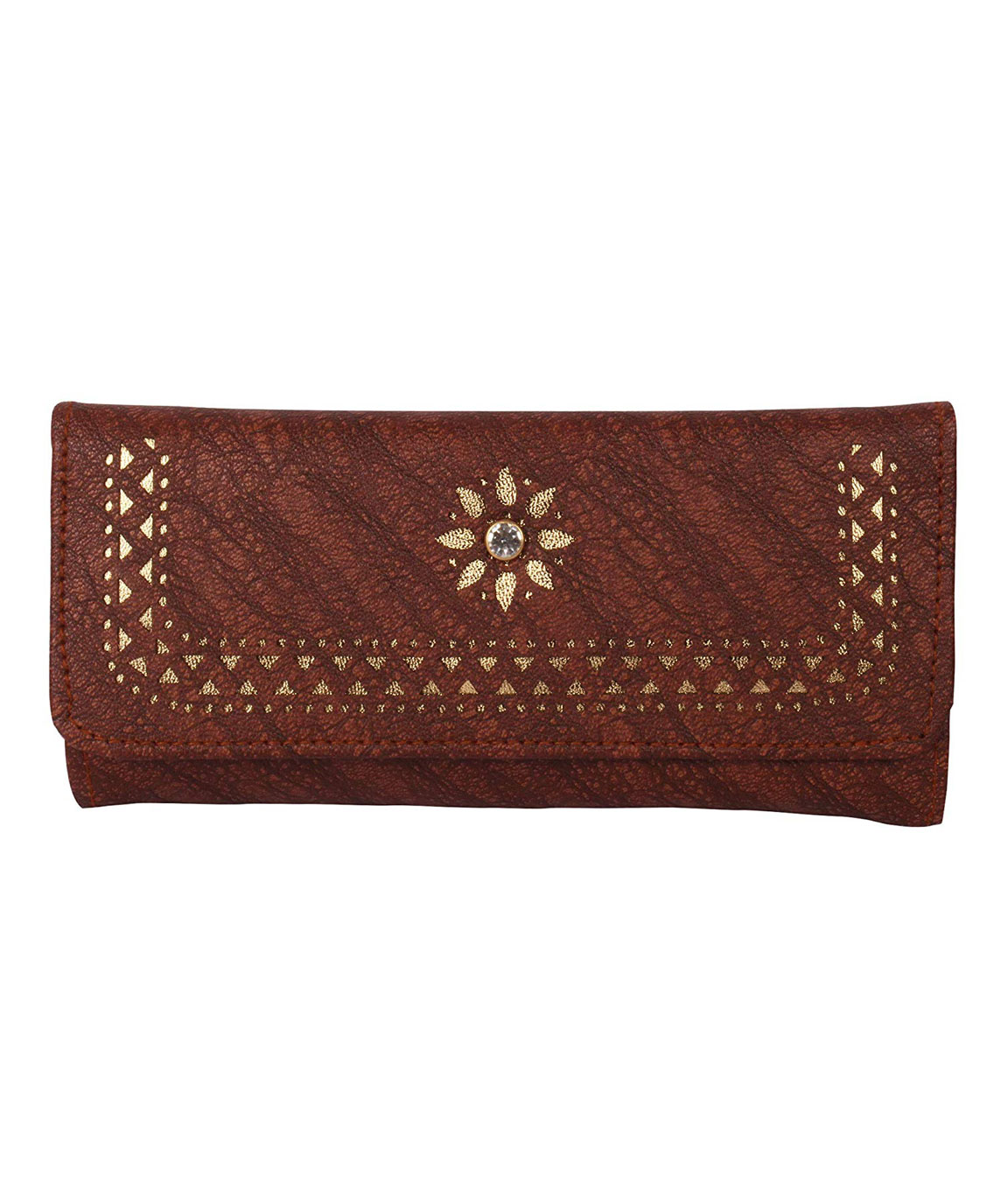 Women Girls Leather Wallets Lady Fashion Long Purse Handbag Women`s Clutches/Genuine Leather Wallet/Purse For Women and Girls(brown)