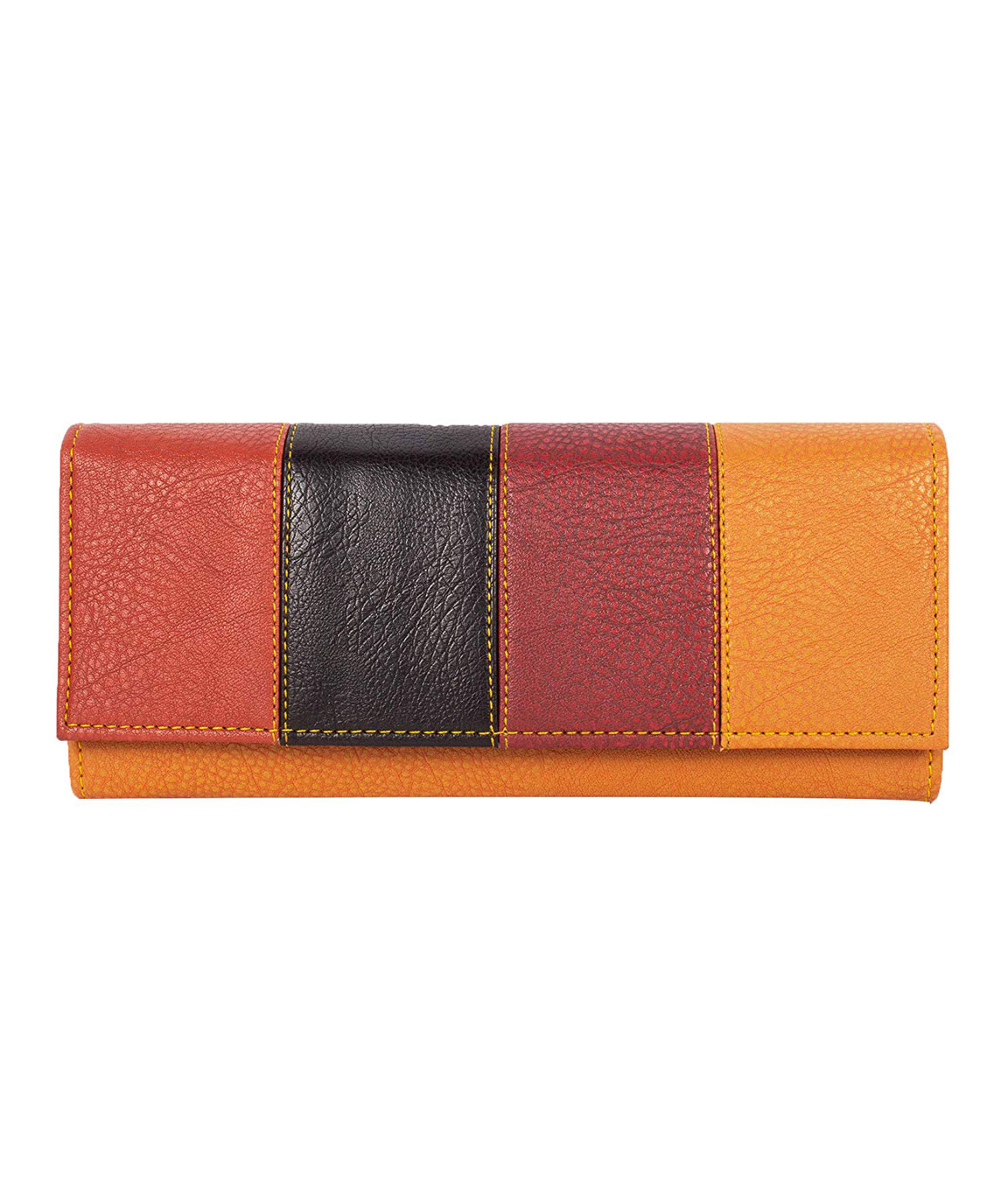 Women Girls Leather Wallets Lady Fashion Long Purse Handbag Women`s Clutches/Genuine Leather Wallet/Purse For Women and Girls(yellow)