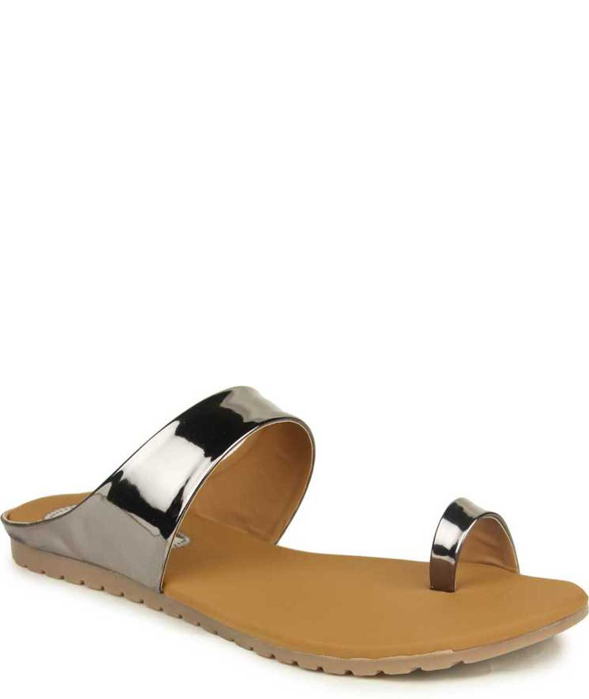 WOMEN GREY SLIP-ON FLATS