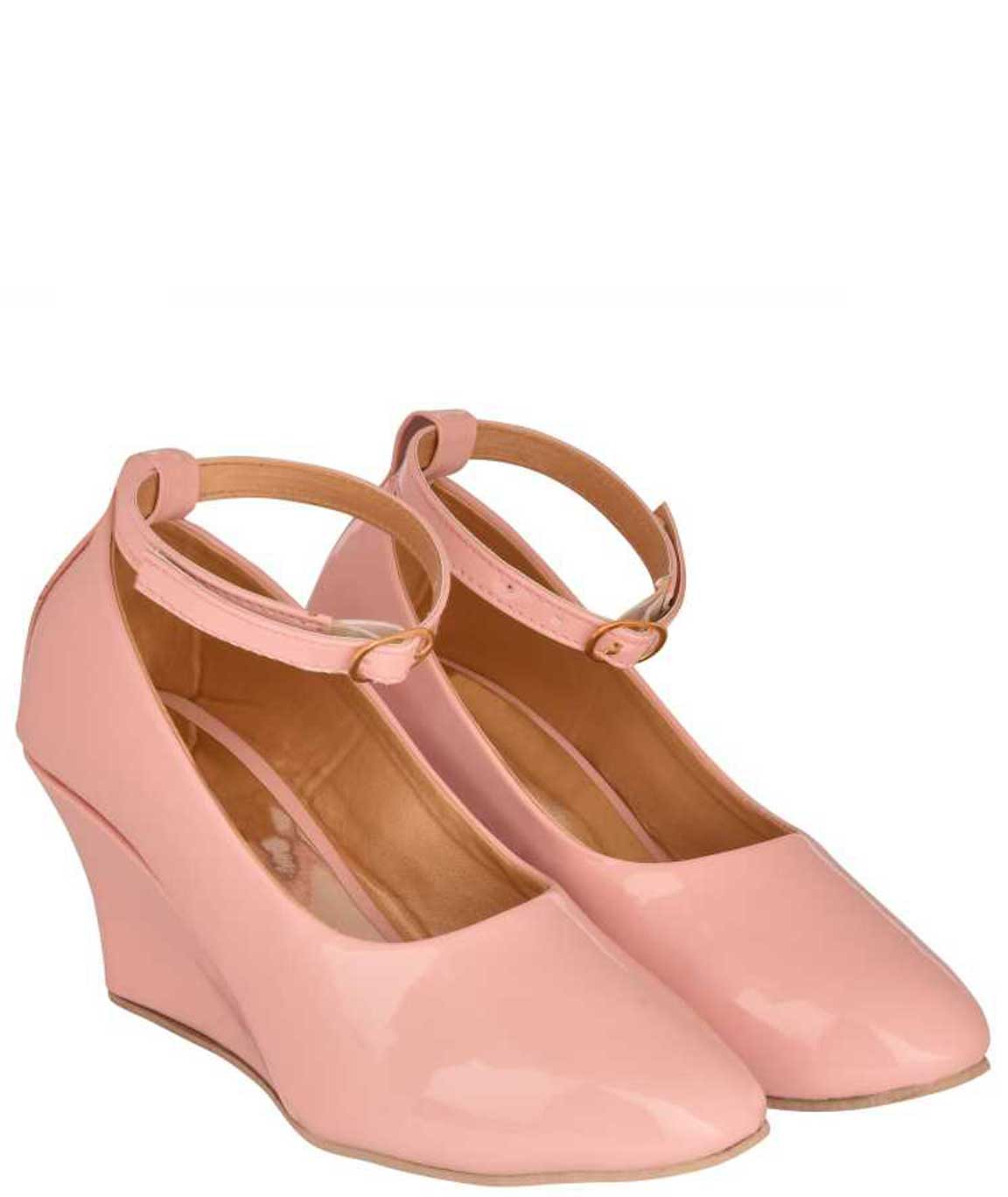 WOMEN PINK WEDGES BELLY
