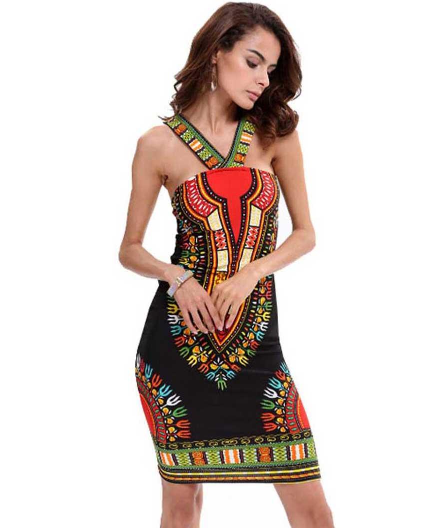 Women Sheath Multicolor Dress