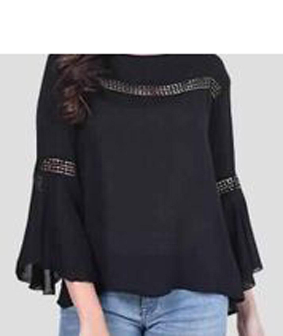 Women Stylish Top(black)