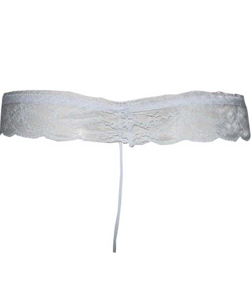 Women Thong White Panty  (Pack of 1)