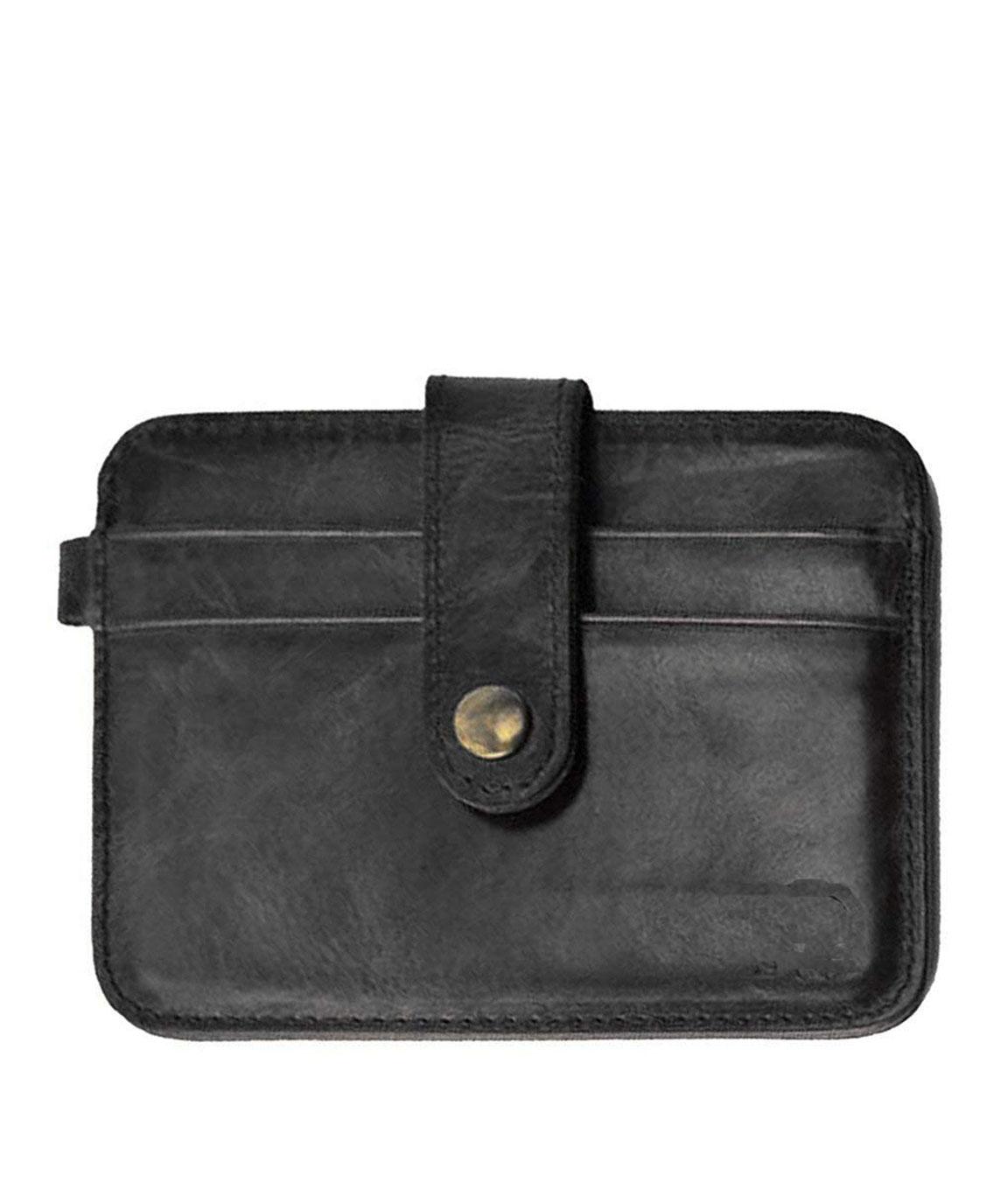 ZORO Black Men`s Faux Leather Credit Debit Case Wallet