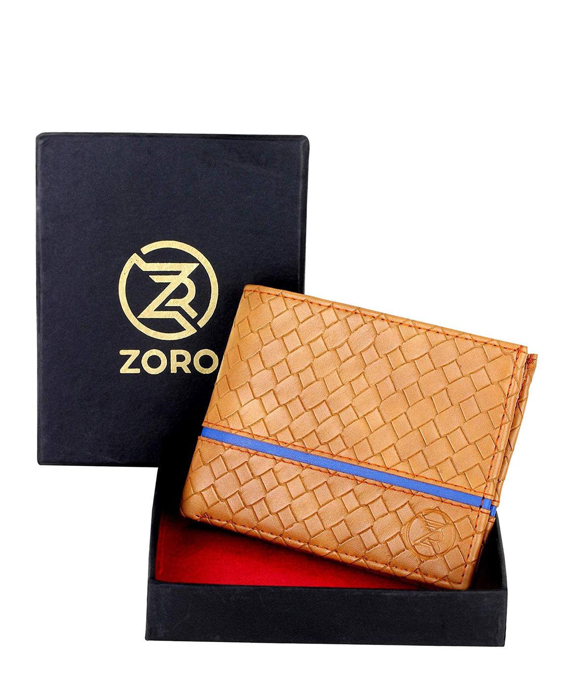 ZORO Card 18BL PU Leather Men`s Wallet (Beige)
