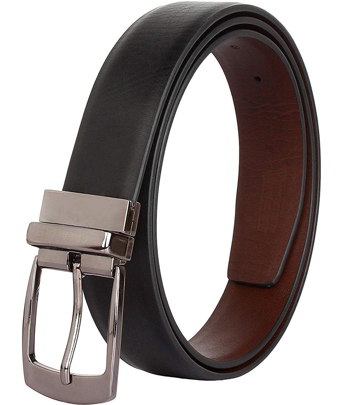 ZORO Mens Reversible belt, Black/Brown, upto 42 size, RSDTX-01