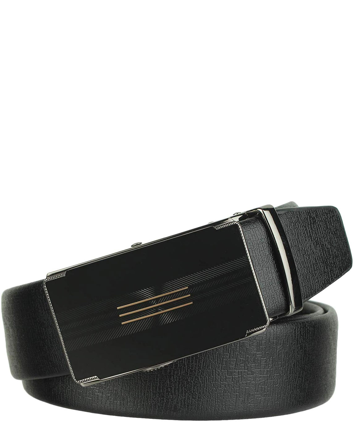ZORO PU Leather Adjustable autlock ratched Buckle Belts Fashion Waist belt For Casual and Formal - Belt For Men, leather belt for men formal branded,gents belt, formal belt for mens
