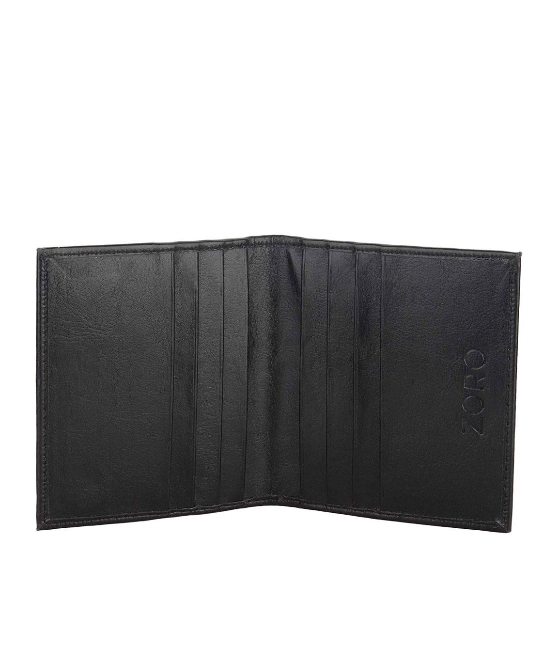 ZORO PU Leather Black Men`s Card Wallet, Purse 32K