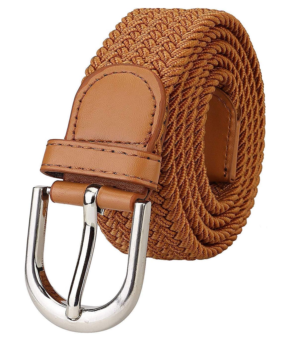 ZORO Stretchable braided cotton belt for men under 200, mens belt, flexible, fits on upto 36 inch waist size
